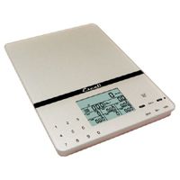 Escali Cesto Portable Nutritional Tracker: Silver Gray