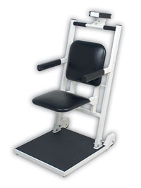 Detecto Digital Chair Scale w/Flip Up Seat & Arms Rests