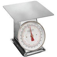 110 lb. Flat Top Dial Scale
