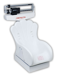 Detecto Mechanical Pediatric Scale w/Inclined Chair Seat w/Dual Reading Beam