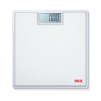 Seca Digital Floor Scale with Rubber Mat: White or Black