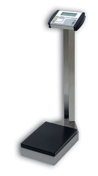 Detecto Stainless Steel Waist High Digital Physician Scale w/Height Rod