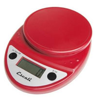 Escali Primo Digital Multifunctional Scale Warm Red