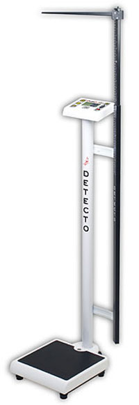 Detecto ProDoc Comfort Height Doctor Scale w/Mechanical Height Rod